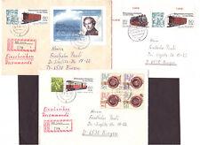 DDR 3 Briefe WZd563 Makkleeberg 20.12.83, Block67 und WZd602, R-Briefe Leipzig