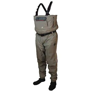 Frogg Toggs Anura II Breathable Stockingfoot Chest Wader, Beige/Khaki~Size Large