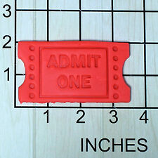 Movie Ticket Admit One Fondant Cookie Cutter and Stamp #1661