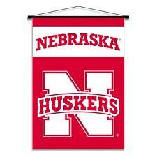 Nebraska Cornhuskers Indoor Scroll Banner Man Cave it Dad Son Mom
