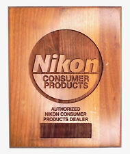 Vintage Nikon Wood Sign for Authorized Nikon Consumer Products Dealer #1..V.Rare