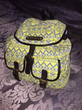 Anna Smith Blue And Yellow Aztec Backpack BNWT