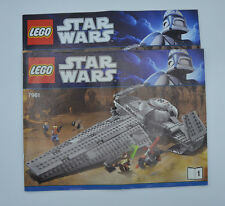 Lego de recette Star Wars 7961 Dark Maul SITH cahier 1+2 | INSTRUCTION only