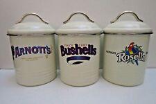 OLD FASHION ARNOTTS BUSHELLS ROSELLA STORAGE ORGANISER FOOD TEA COFFEE TINS