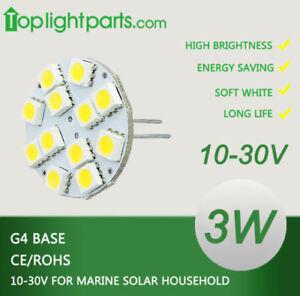 (5pcs) G4 3W LED White / Warm White 10-30V 12V 24V OK Lamp Disc Light MR11 Bulb