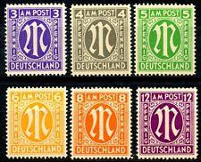 Germany AMG London Printings Type 2 Complete Set of 6 MNH Scott's 3N2b to 3N8b