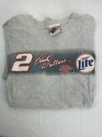 Rusty Wallace Nascar 2002 Winston Cup Miller Lite Racing T-Shirt Size L