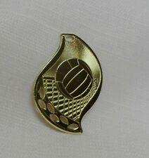 Lot of 10 Volleyball Scroll Goldtone Award Medallion Medal Trophy Engrave Metal