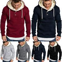 Herren Hoodie Kapuzenpullover Winter Langarmshirt Pullover Sweater Pulli M-3XL