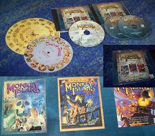 Monkey Island 1 + 2 + 3 XP/Vista + + 7 + 8 con código discos todos en alemán
