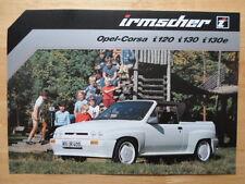 IRMSCHER OPEL CORSA i120, i130 & i130e Convertible Brochure 1983 - Vauxhall Nova