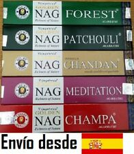 Incienso Nag Champa Golden Serie Oro 1 caja de cada. CHANDAN MEDITACIÓN PATCHOUL