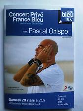 PASCAL OBISPO - CARNET NOTE COLLECTOR CONCERT PRIVE FRANCE BLEU