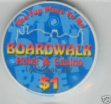 BOARDWALK CASINO LAS VEGAS $1 CHIP E0078 (NEW-UNC)