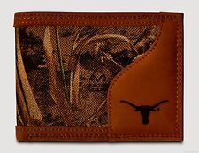 Texas Longhorns Bi-Fold Realtree Max-5 Camo & Leather Wallet NCAA Licensed Logo