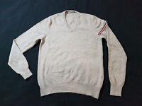 MONCLER Pullover V-Neck Gr 44 / S 100% Schurwolle
