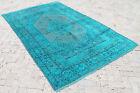 "Turkish Rug 67""x102"" Hand Woven Wool Overdyed Anatolian Carpet 171x260cm"