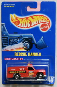HOT WHEELS 1991 BLUE CARD #45 RESCUE RANGER RED 23