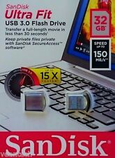 SanDisk Ultra fit 32gb USB 3.0 Stick USB 150mb/s Flash-unidad sdcz 43-032g