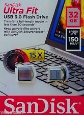 Sandisk Ultra Fit 32GB USB 3.0 USB Stick 150MB/S Flash-Laufwerk SDCZ43-032G-G46