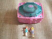 Vintage Polly Pocket Mattel 2000 Emerald Garden Playset with figures