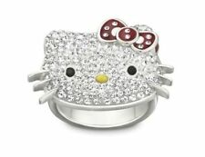 RARE! NEW SWAROVSKI LARGE HELLO KITTY RING WITH RED BOW SOLD OUT! RETIRED! 55