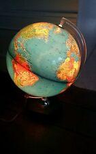 Lampe globe terrestre mappemonde design Vintage années 60 70 lampe de bureau