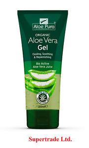 Aloe Pura - Organic Natural Bio Active Aloe Vera Gel - 200ml X 3