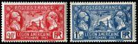 "Francia Stamp Francobollo Yvert N°244/245 "" Legion US 1927 "" Nuovi Xx-Lar Lusso"