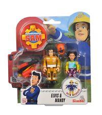 Simba - Feuerwehrmann Sam Figuren Doppelpack III - Elvis & Mandy