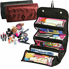 Roll-N-Go Cosmetic Bag Roll Up Travel Pouch Smart Toiletry Makeup Bag Portable
