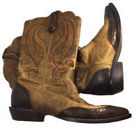 Durango Crush Western Boots Embroidered Floral Size 6.5M  Cowgirl