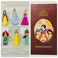 RETIRED Disney Princess Collection 6Pc Christmas Storybook Ornament Box Set