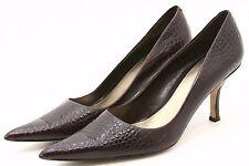 9 Nine West hendleo Womens Dress Shoes 8.5 Croc embos Leather heels Classic Pump