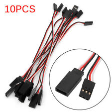 10pcs 10cm Quadcopter Servo Extension Lead Futaba JR Male To Male Wire Cable HF