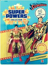 Matty Collector DC Universe Super Powers Gold Superman Figure