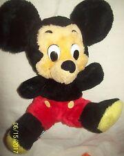 """VINTAGE Disney 11"""" Mickey Mouse Fuzzy Bean Bag Plush-Korea"""