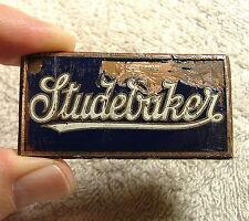 Original STUDEBAKER TRUCK Enamel Radiator Badge Emblem 1931 Only? D.L. Auld RARE