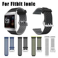 Soft Silicone Watch Band Bracelet Wrist Strap for Fitbit Ionic Wristband hv2n