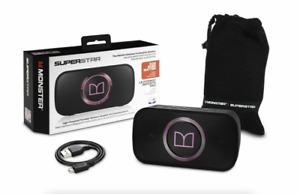 Monster SuperStar HD Bluetooth Speaker, Black/Neon Pink - NEW