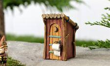 Miniature Fairy Garden Woodland Outhouse/   Dollhouse  Faerie Gnome 706089