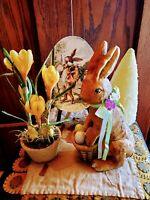 VINTAGE☆RABBIT☆RAGON HOUSE STYLE☆BETHANY LOWE LOOK☆FIGURINE☆COLLECTABLES☆EASTER