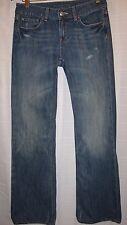 BANANA REPUBLIC Classic Boot Cut Distressed Blue Jeans Size 4 RN#54023