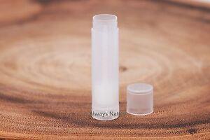 CLEAR / White Lip Balm Tubes & Caps Bulk New (empty) Containers USA 50 100 Bulk