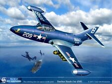 ART PRINT:  F9F Panther - Print by Shepherd