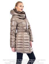 ~ Goose Down Coat Jacket Parka w/ Mink Fur sz XL / US 12 EU 44 Пуховик Mex Норка
