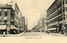 View of Market Street Harrisburg Pennsylvania PA 1907 Postcard