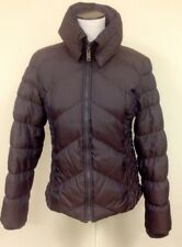 MISS SIXTY Brown Nylon Quilted Zip Front High Collar 2 Pocket Jacket Sz M GG7518