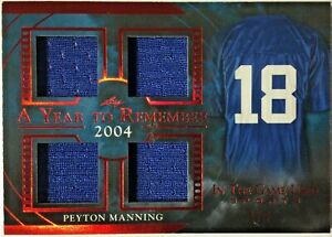 2020 Leaf ITG Used Sports #AYR-33 Peyton Manning Quad Jersey Patch 1/3