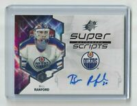 2019-20 Upper Deck SPX Bill Ranford Super Scripts Auto